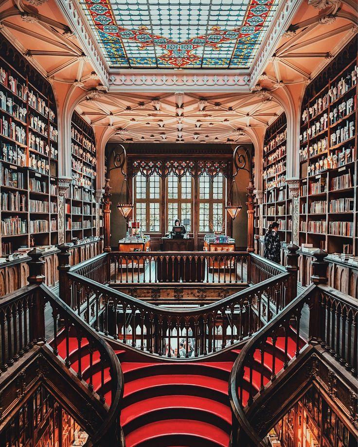 5 Best Photo Spots In Porto Portugal Joe Thomas Bookstore Beautiful Library Portugal