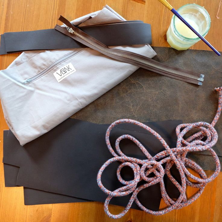 Brown leather bag in the making. Handmade leather bag | Vank Design
