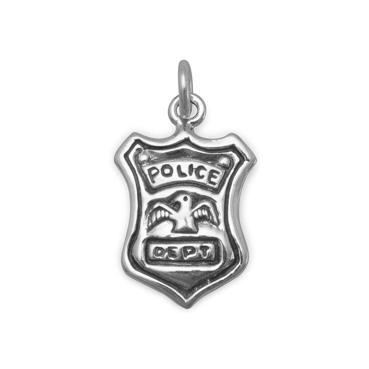 Police Shield Charm