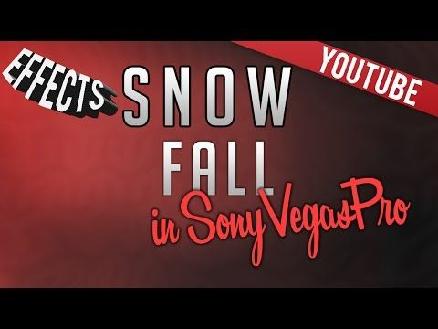 How to add Snow Fall effect Tutorial - Sony Vegas Pro 11,12,13 - YouTube