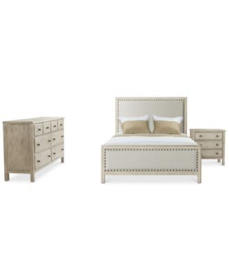 Parker Upholstered Bedroom Furniture, 3-Pc. Set (King Bed, Dresser & Nightstand), Created for Macy's