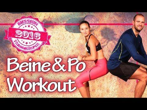 Dünne Beine trainieren - Schlanke Oberschenkel - Knackpo Workout - Missi...