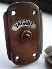 Period Vacant /Engaged Locks - Bronze Locks
