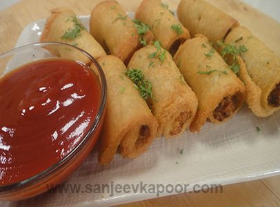 21 best fusion images on pinterest sanjeev kapoor cooking food how to make chicken swiss roll spicy chicken mixture spread on bread slices rolled and deep fried forumfinder Images