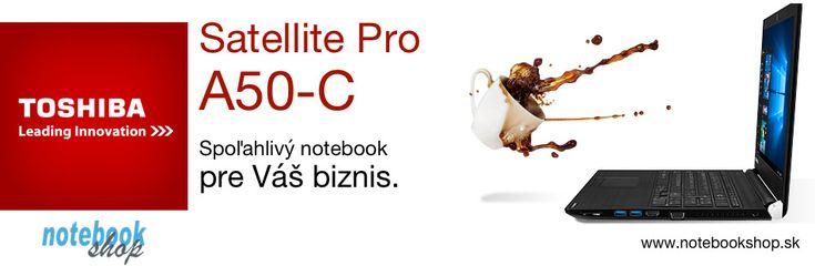 Toshiba Satellite Pro A50 - Spoľahlivý pracovný notebook s vyváženým výkonom, matným 15.6