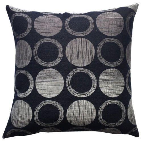 Moon Circles Black Cushion Cover – Linen and Bedding