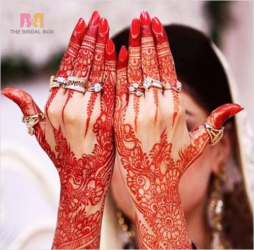 The redder the henna color, the more your husband loves you. Or so my family tells me. Lol my henna has always been a very vibrant dark red color, and my grandma says the man I'm going to marry must love me a whole lot.