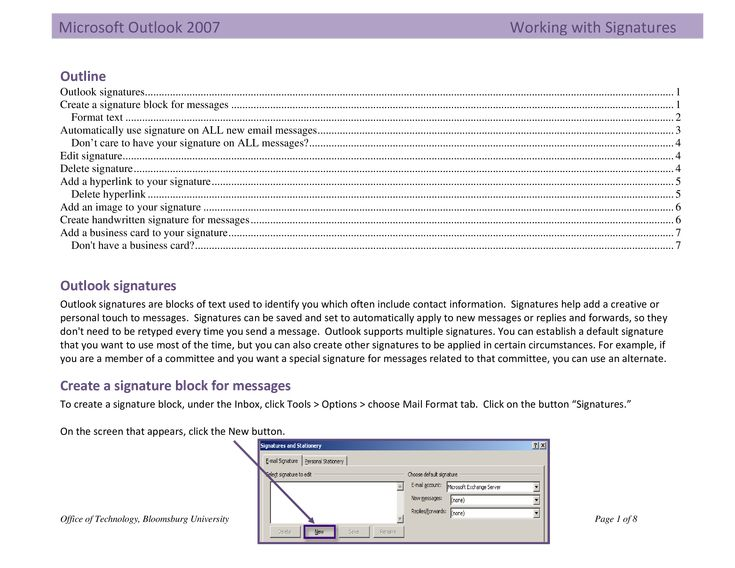 Outlook personal email signature how to create an