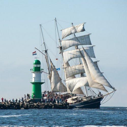 Während der Hanse Sail Rostock - die größte maritime Veranstaltung in M-V.
