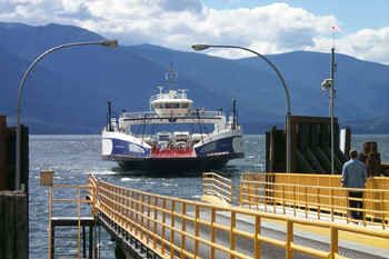 Kootenay Lake Ferry - a big part of travel when you live in the mountains and lakes - peaceful.