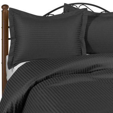 Black Stripe Queen Size Size SIX piece [6] Bed Sheet Set (Deep Pocket) with FOUR [4] Pillow cases. 600 Thread Count 100% Long Staple Egyptian Giza Cotton with Swiss Sateen Finishing by De Luxe Linens, http://www.amazon.com/dp/B0059GSPWU/ref=cm_sw_r_pi_dp_7J-Tqb1P1K0Z8