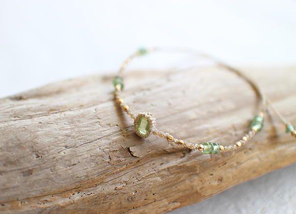 Peridot Macrame Bracelet