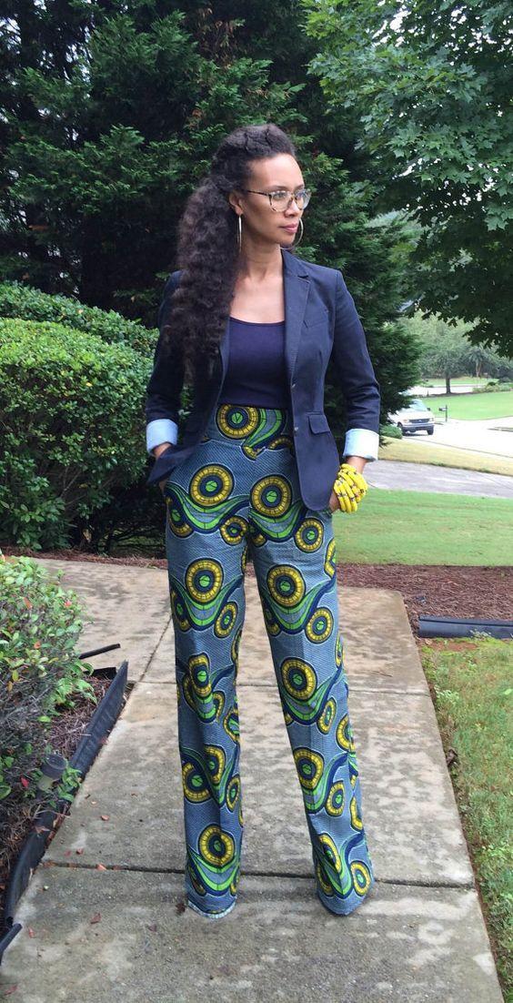 African Printed Jeans von MelangeMode auf Etsy – #…
