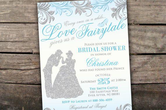 10% OFF NEW Printed or Digital Cinderella Bridal Shower