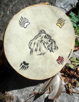 Hand-painted Mohawk Drum