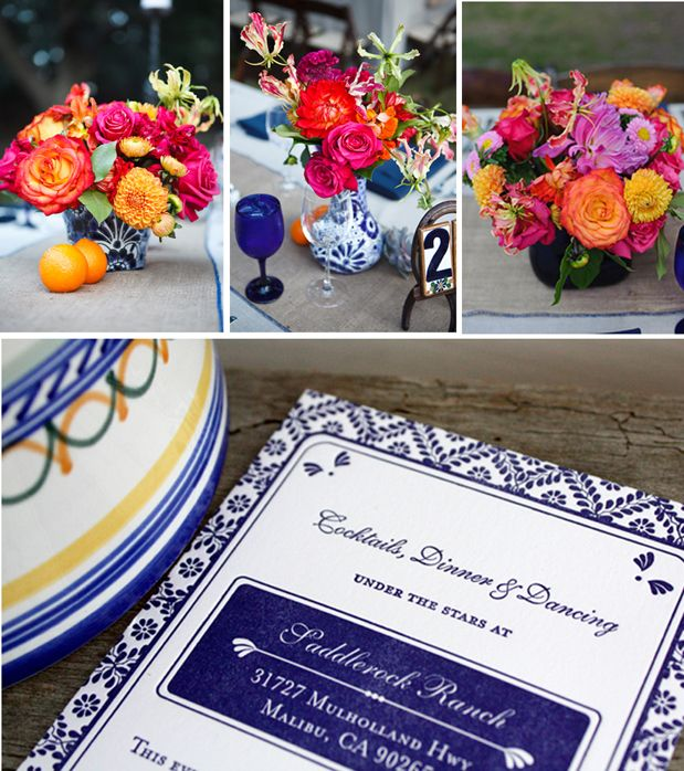 Love this idea for a hacienda style wedding such at Memory Garden, Holly Farm, Holman Ranch and Kennolyn...love all of it!