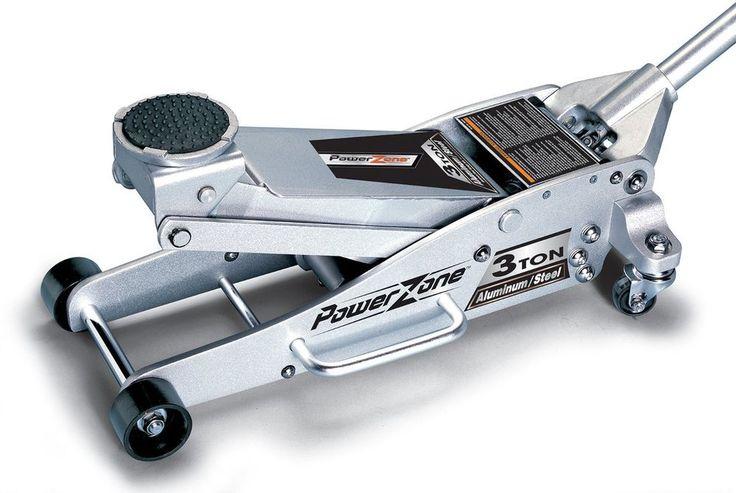 Floor Jack Powerzone Quick Lifting 3 Ton Aluminum Steel Hydraulic Car Truck Shop