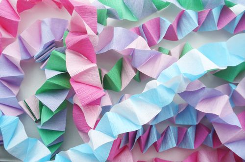Box Folded Streamers Tutorial Paper Crafts Pinterest