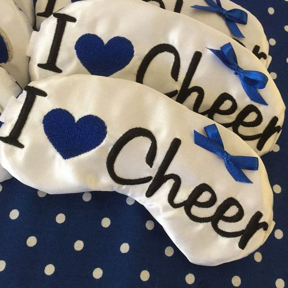 Cheerleader Spirit Gifts I Heart Cheer Sleep Mask Cheer Sleepover Team Favors