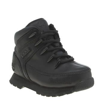 Timberland Black Euro Sprint Unisex Toddler Now the whole family hike through the hills in style as the Timberland Euro Sprint arrives for tiny growing feet. Downsized for kids, this all-black leather boot features a durable rubber sole unit, a http://www.MightGet.com/january-2017-13/timberland-black-euro-sprint-unisex-toddler.asp