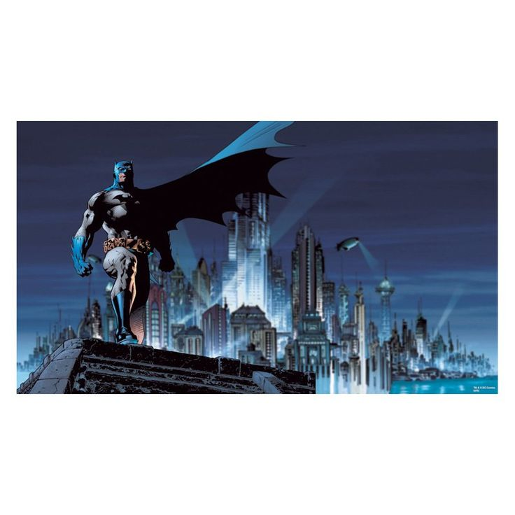 Have to have it. RoomMates Batman Chair Rail Mural - $154.99 @hayneedle
