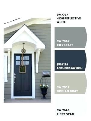 Outside House Colors Front Door Paint Gray Backdoor Entry