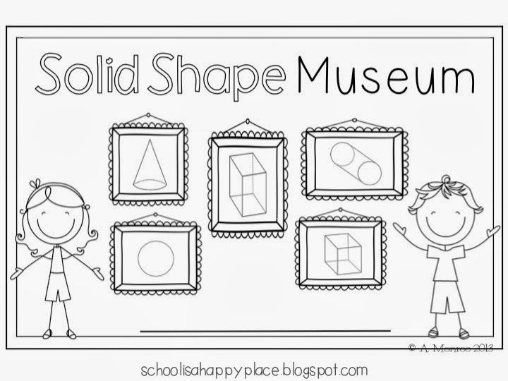 solid shape museum ideas and a printable mini book freebie