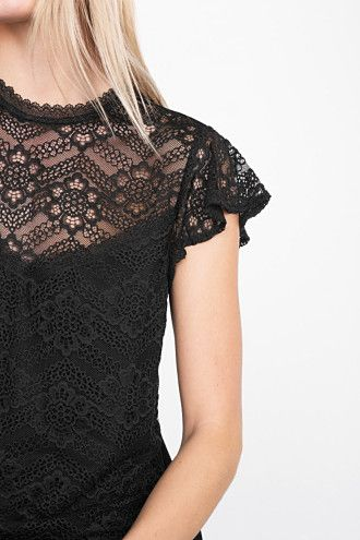 Esprit / Lace top with an integrated top