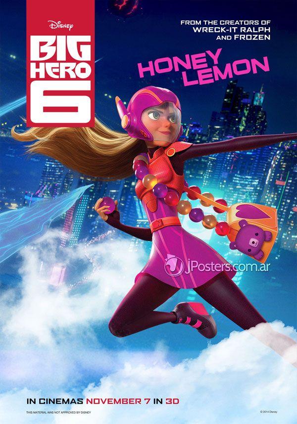 """Personagens são destaque nos cartazes da animação """"Big Hero 6″ http://cinemabh.com/imagens/personagens-sao-destaque-nos-cartazes-da-animacao-big-hero-6"""