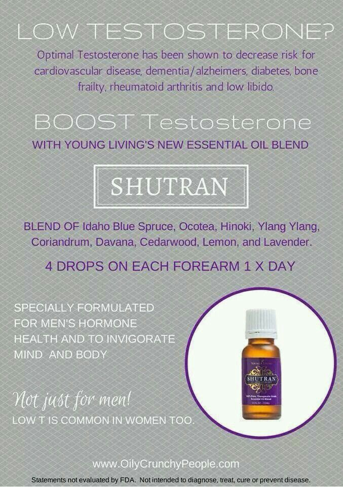 How To Raise Your Testosterone Levels As You Age Young Living Essential Oils: Shutran Testosterone