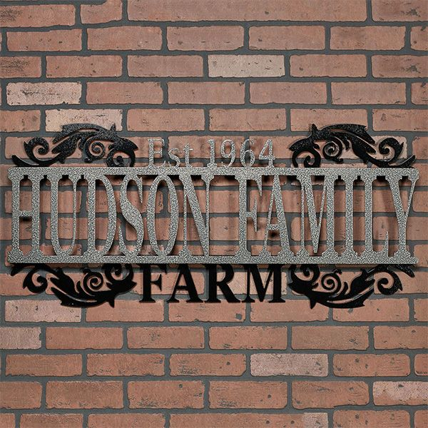 Rustic Established Signs Faux Metal Wall Art Custom Family Name Sign Modern Farmhouse Wall Decor Establ Farmhouse Wall Decor Kitchen Wall Decor Farmhouse Decor