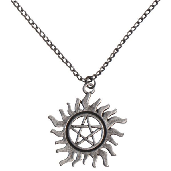 Supernatural Anti-Possession Symbol Necklace | Hot Topic ($8.50) ❤ liked on Polyvore featuring jewelry, necklaces, supernatural, accessories, pendant necklaces, pendant jewelry, tattoo necklace and tattoo jewelry