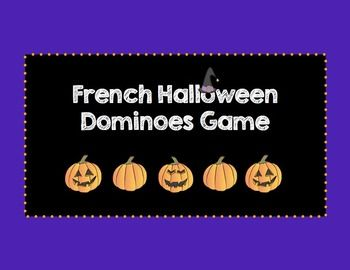 French Halloween Dominoes Game From Teachers Pay Teachers