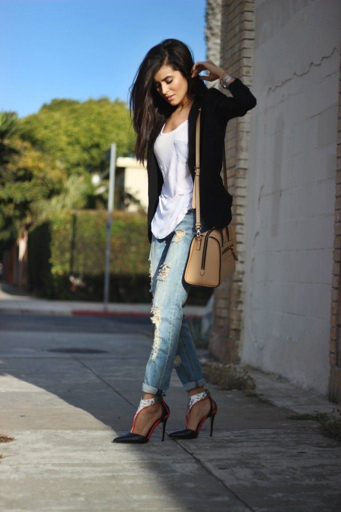 shoedazzle, heels, pointed toe, selena gomez, style, street style, leather, black heels, python, print, python heels, sazan, barzani, fashion, bloggers, 2013, nordstrom, boyfriend jeans, halogen, H&M, black blazer, affordable finds, luckymag, celebrity fashion, outfit of the day, best bloggers, what is fashion