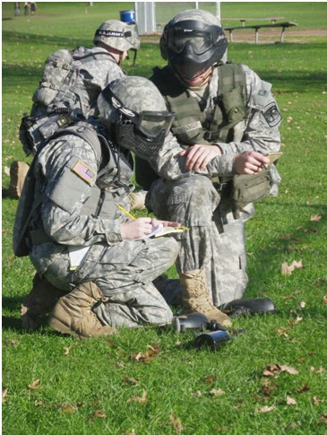 Squad Leader and Radio Operater planning for upcoming mission