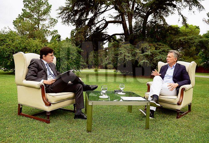 Afirmó Mauricio Macri, en la entrevista con Jorge Fontevecchia en Olivos