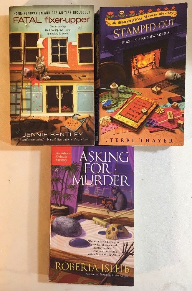 Berkley Prime Crime Mystery Book Lot Of 3 Fatal Fixer Upper Stamped Out