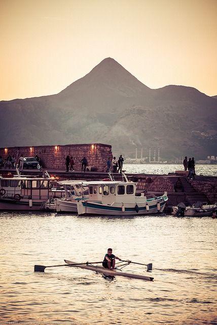 Rowing at Heraklion, Crete