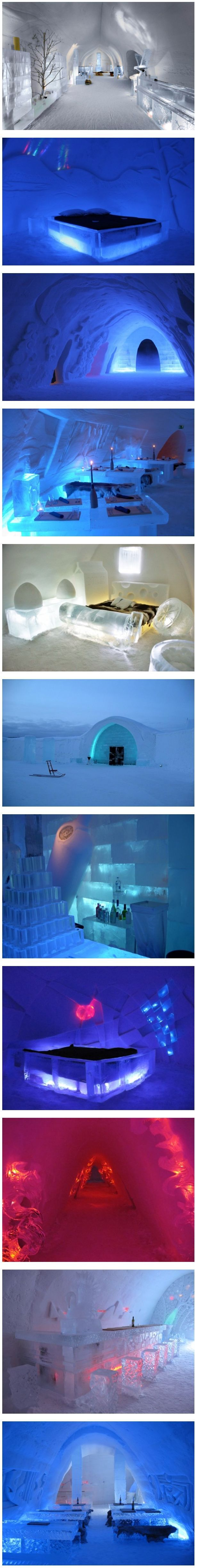 SnowHotel, Finland - looks like a great place to go have a chilled vodka...Nina you in??
