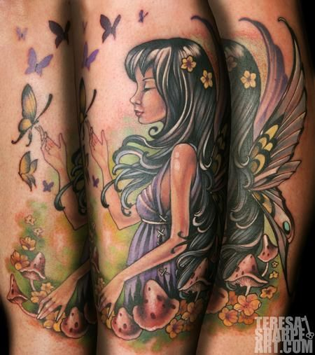 butterfly and fairy tattoo - Google Search