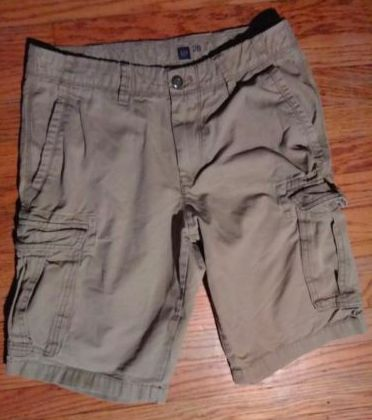 Gap Men's Dark Tan Heavy Weight Cargo Shorts- Sz 28