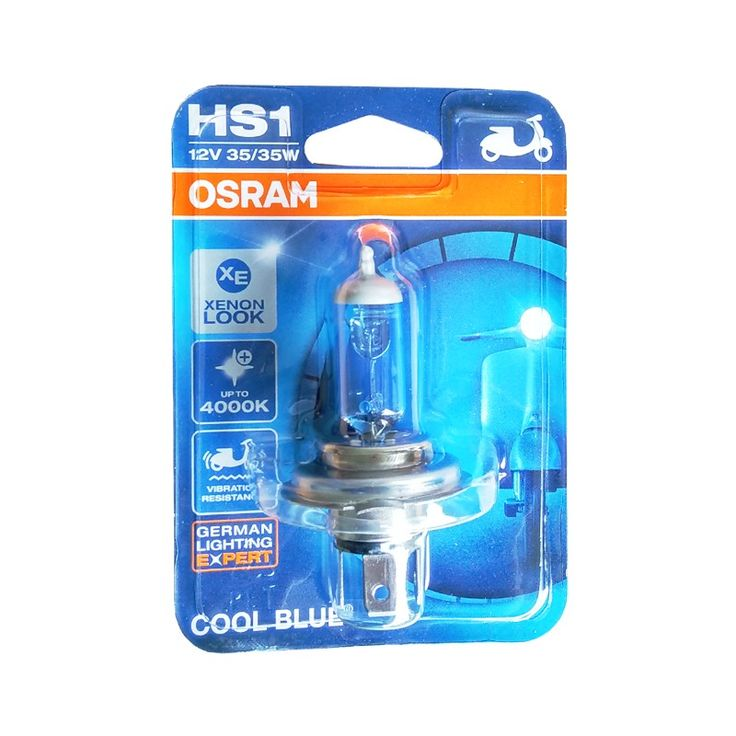 Osram Lampu Depan Motor HS1 64185CB 12V 35/35 PX43T - Cool Blue - u/ Motor (vixion, bison).  bohlam osram hs1/h4 12v 35/35w ini cocok untuk kendaraan : - vixion - bison - scopy fi - ninja 250cc - cb150r - cbr250.  http://lampu.com/lampu-motor/621-osram-lampu-depan-motor-hs1-64185cb-12v-3535-px43t-cool-blue-u-motor-vixion-bison-cbr150-cbr250-ninja-dll-murah.html  #lampudepan #lampumotor #osram