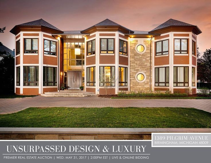 UNSURPASSED DESIGN & LUXURY - Premier Real Estate Auction - Live & Online Bidding | 1389 Pilgrim Avenue Birmingham MI 48009 | Auction: Wed. May 31 2017 at 2:00pm | Preview: Auction Day - Opens at 12:00pm | Recognized Home envy is an understatement with this propertys unmatched quality unparalleled design and Quarton Estates address thats second to none. Experience this stunning 6464 square foot masterpiece with its open floor plan dynamic design and award-winning kitchen and family room…