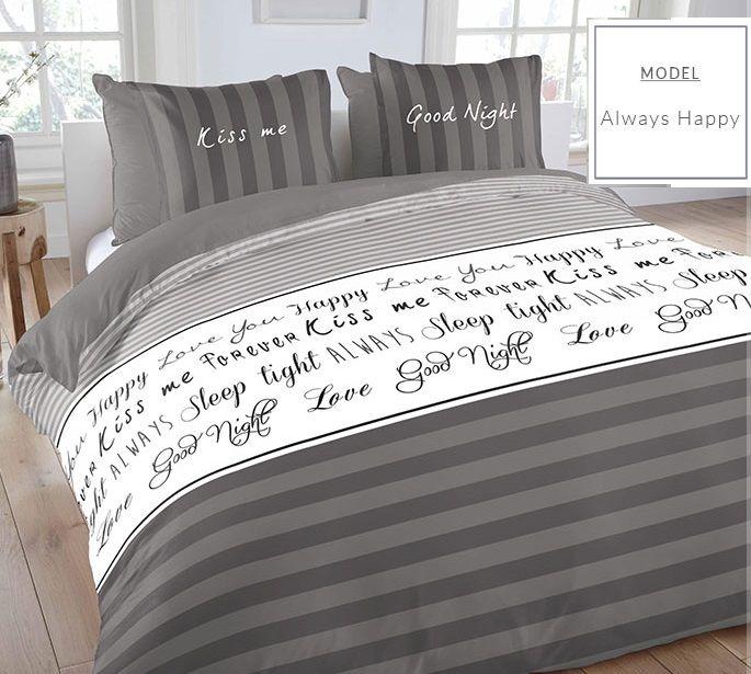 Pruhované sivé posteľné obliečky 200x220