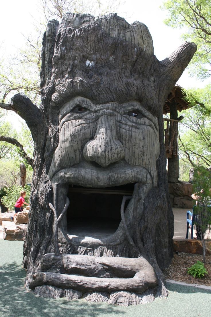 Wise old tree at Botanica, Wichita, Kansas near Granny Jean's Playhouse!!