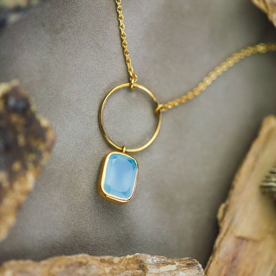 Sky Blue 6CT Natural Chalcedony Pendant and by ZEHAVAJEWELRY