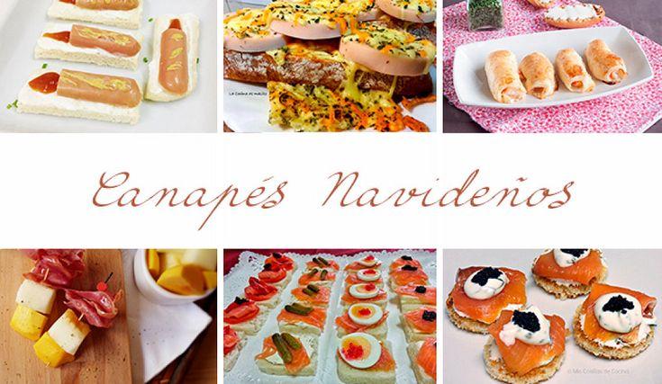 Aperitivos canap s y tostas variadas para servir en los for Canapes y aperitivos