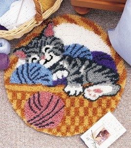 Cat Nap Latch Hook Rug Kit This Was My First Project
