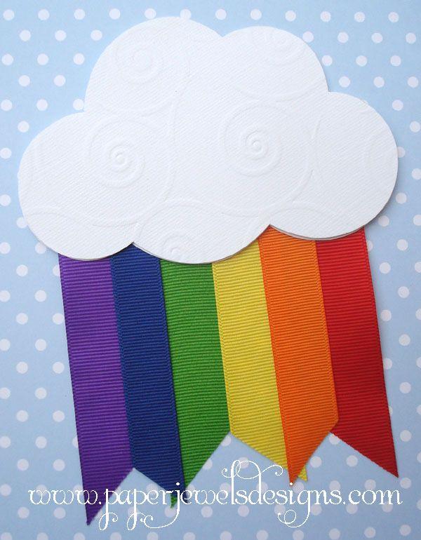 Rainbow Birthday Party Invitation  www.paperjewelsdesigns.com