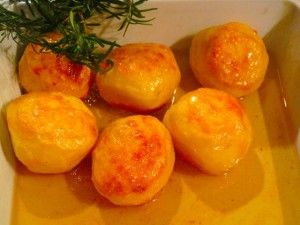 Potatoes roasted in duck fat